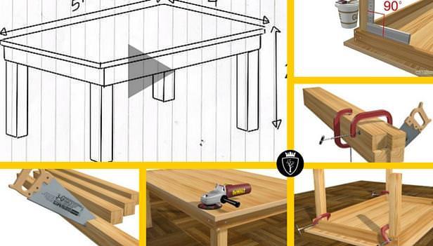12 passaggi per costruire un tavolo in legno falegnameria 39 900 - Costruire un portabottiglie in legno ...