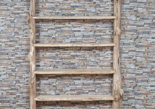 Libreria artigianale in legno di castagno