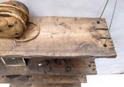 Mensole vintage in legno massello fatte…