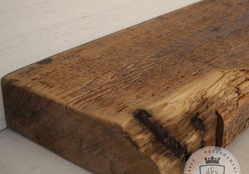 Mensola in legno massello di castagno