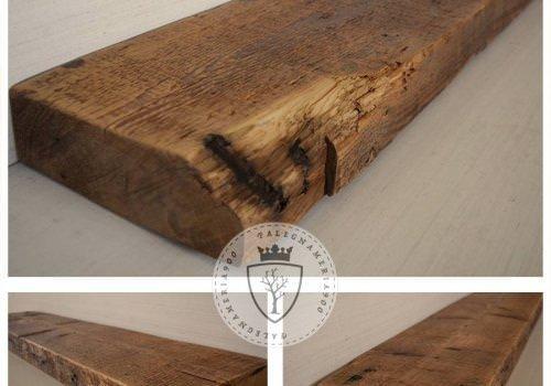 Tre mensole in legno massello di…