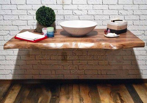 Mobile Bagno: mensola in legno massello