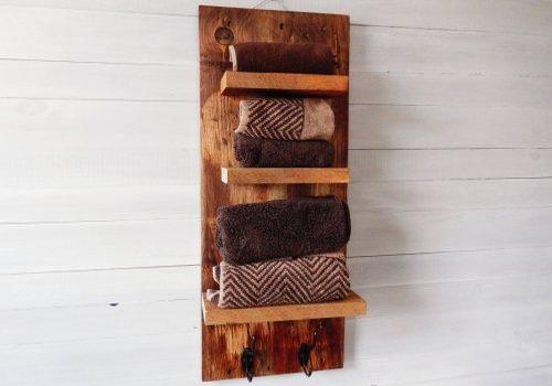 Porta asciugamani in legno massello