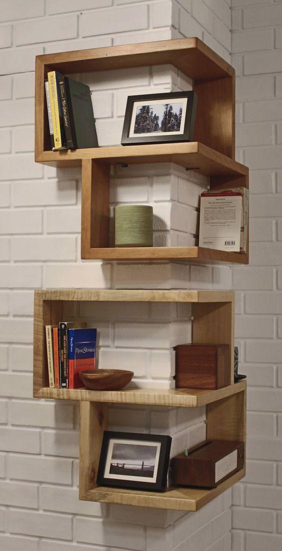 Legno Massello : Libreria angolare in legno massello