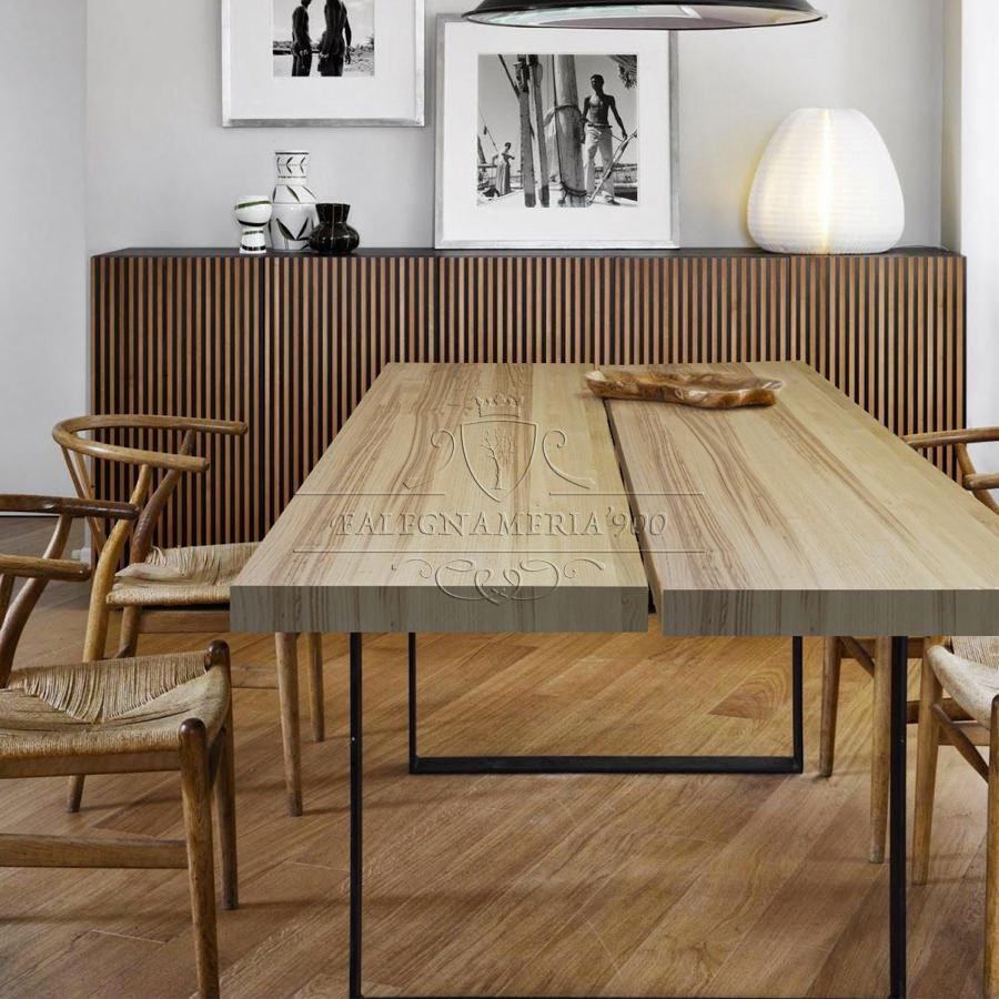 Tavolo in legno massello modello glorious - Tavolo legno massello ...