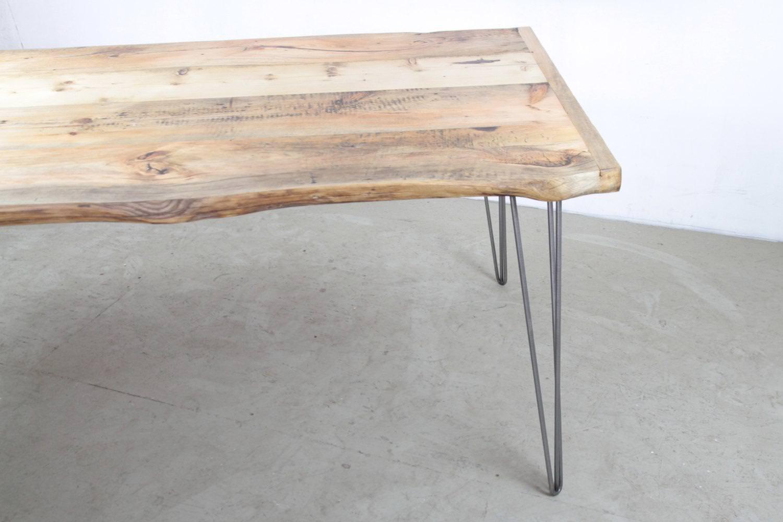 Tavolo in legno massello keiro tavolo da cucina top in - Gambe tavoli ikea ...