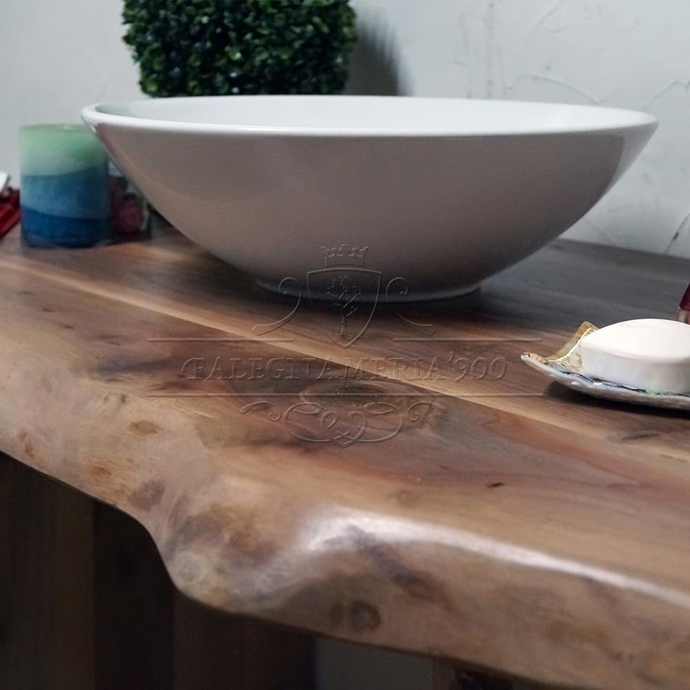 Mobile bagno il legno massello modello beatrice - Top bagno legno massello ...