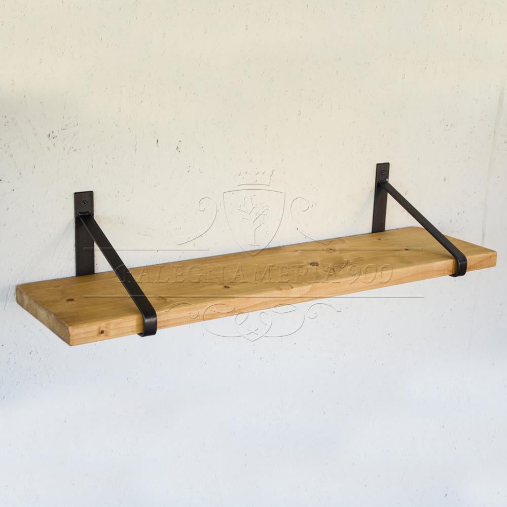 Librerie e mensole in legno massello mensola in legno for Mensole legno naturale