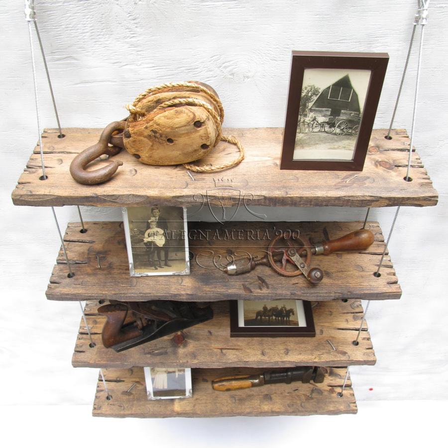 mensole vintage in legno massello fatte a mano modello bijoux