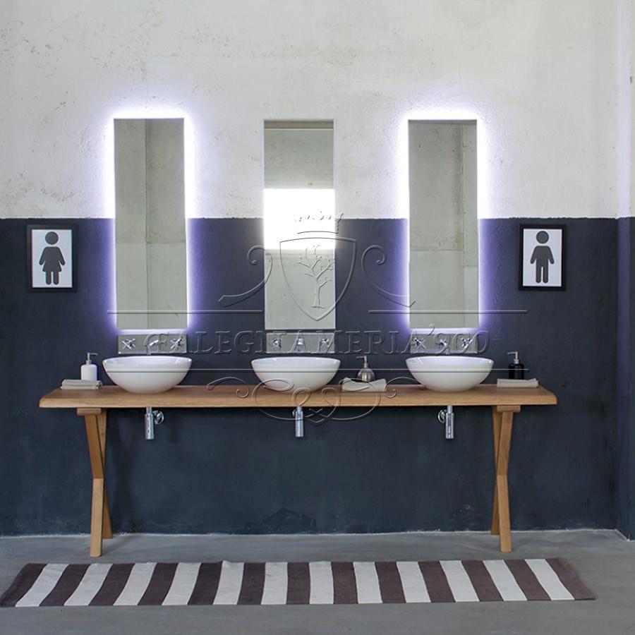 Mobile triplo lavabo in legno massello modello alice - Sgabelli da bagno ...