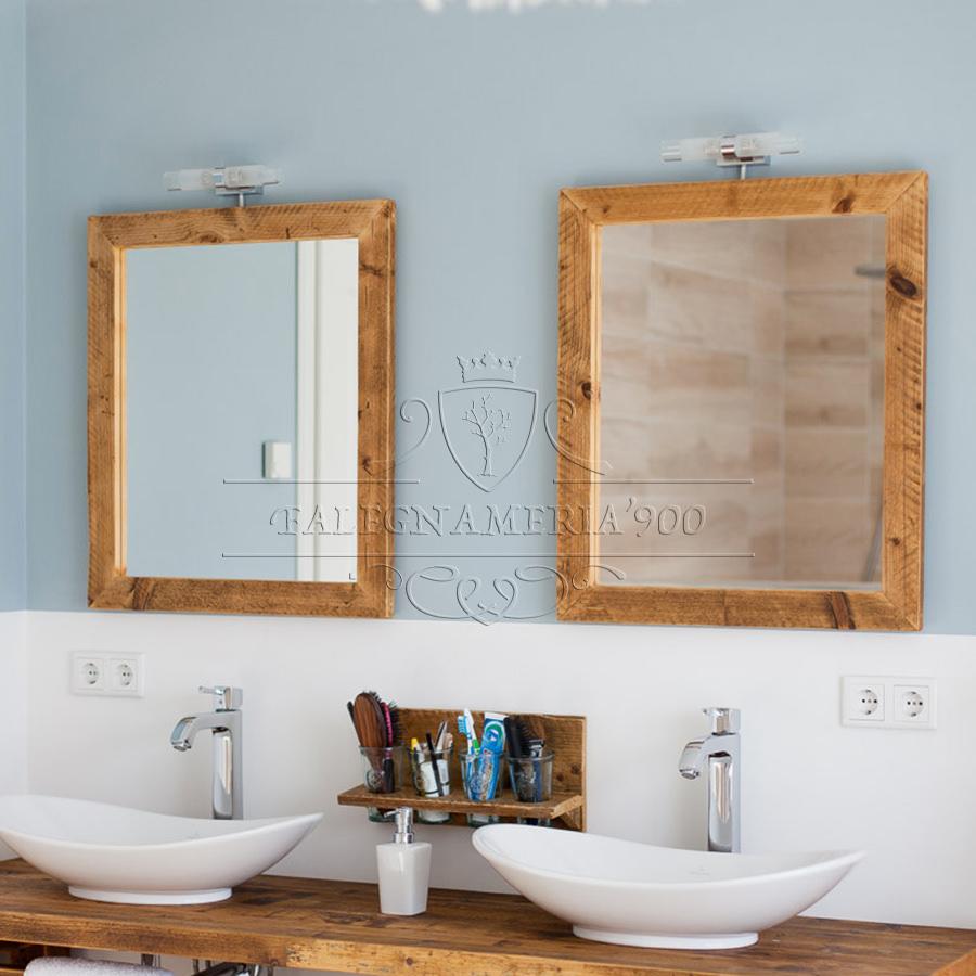 Specchio in legno massello naturale modello simon - Specchio in legno ...