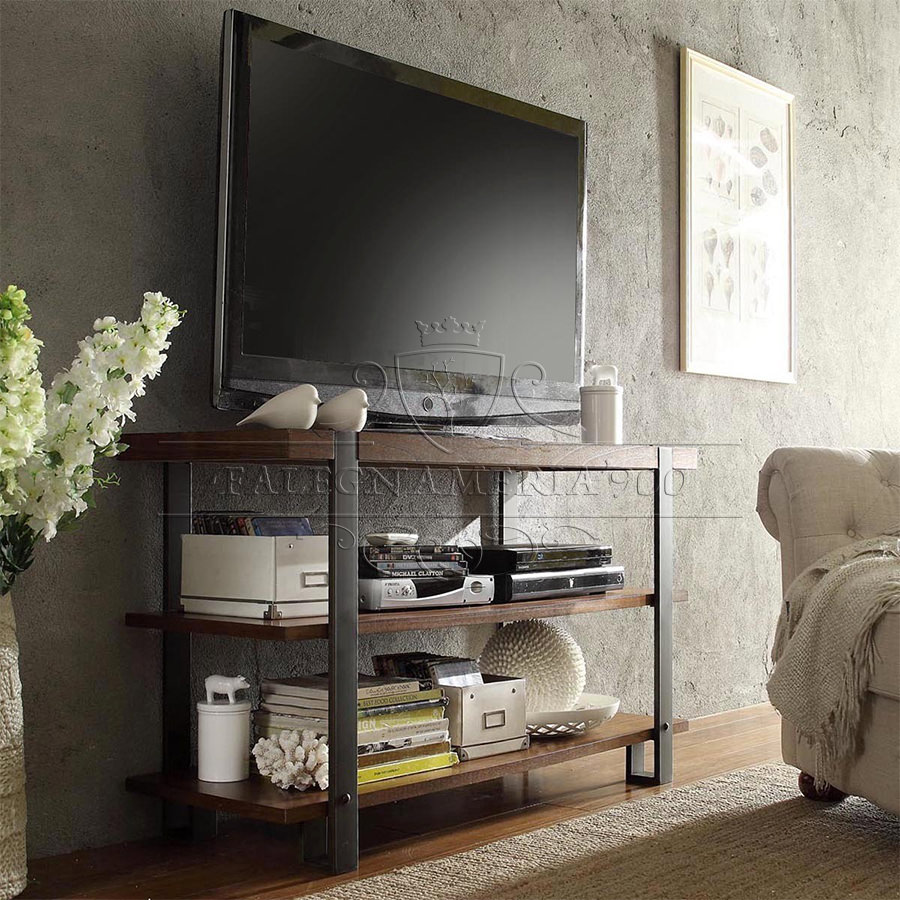 Consolle in legno massello india mobile porta tv in legno massello - Industrial style mobel ...