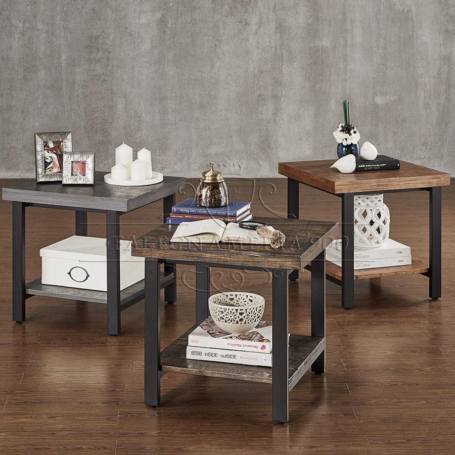 Tavolino in legno massello rustic style tavolino da for Tavolino salotto legno