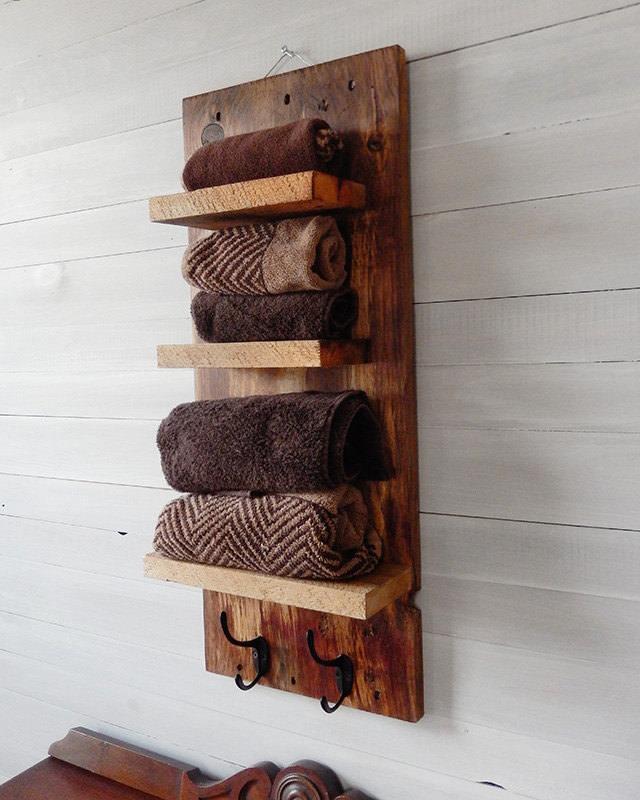 Legno massello porta asciugamani in legno massello - Porta in legno massello ...