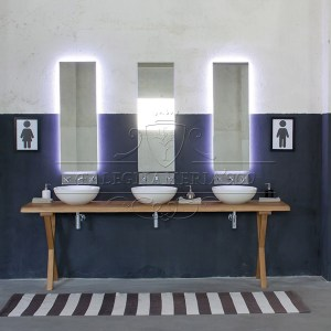 Mobile bagno in legno massello : Nature Design: mobile triplo ...
