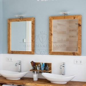 Benvenuti nel mondo di falegnameria900 - Specchio bagno legno ...