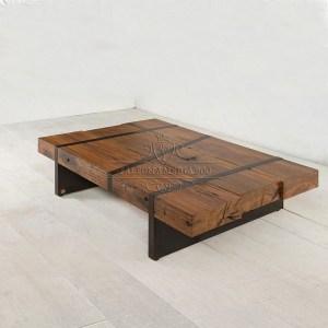 Acquista online librerie in legno massello for Tavolini industrial