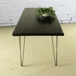 Tavolo in legno massello black style tavolo da cucina for Tavolo cucina nero