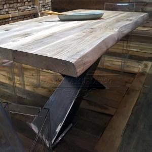 Tavolo in legno massello x design tavolo legno massello - Gambe in ferro per tavoli ...