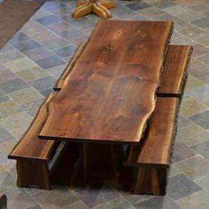 castagno tavolo rustico : Tavolo Black Style: tavolo da cucina in legno massello e gambe in ...
