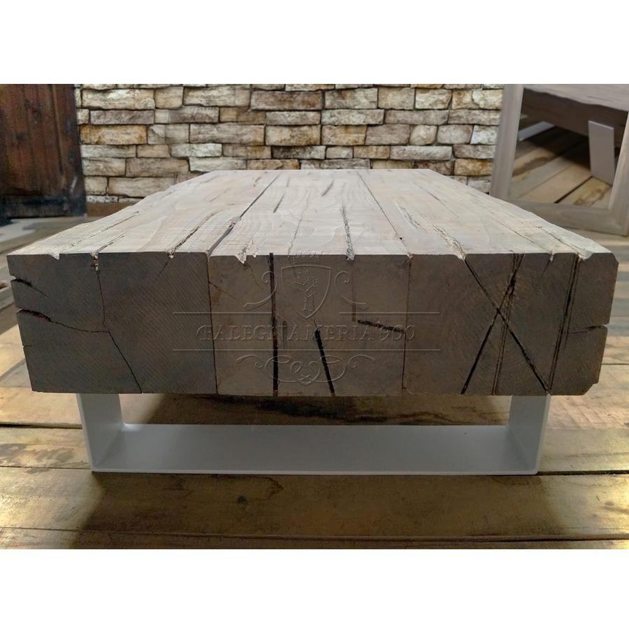 Tavolino da salotto con vere travi di legno massello modello Word