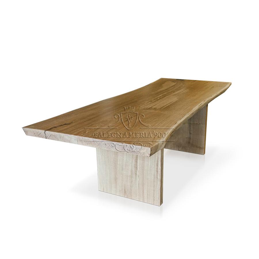 Tavoli e Top : Tavolo da pranzo in legno massello di castagno o rovere