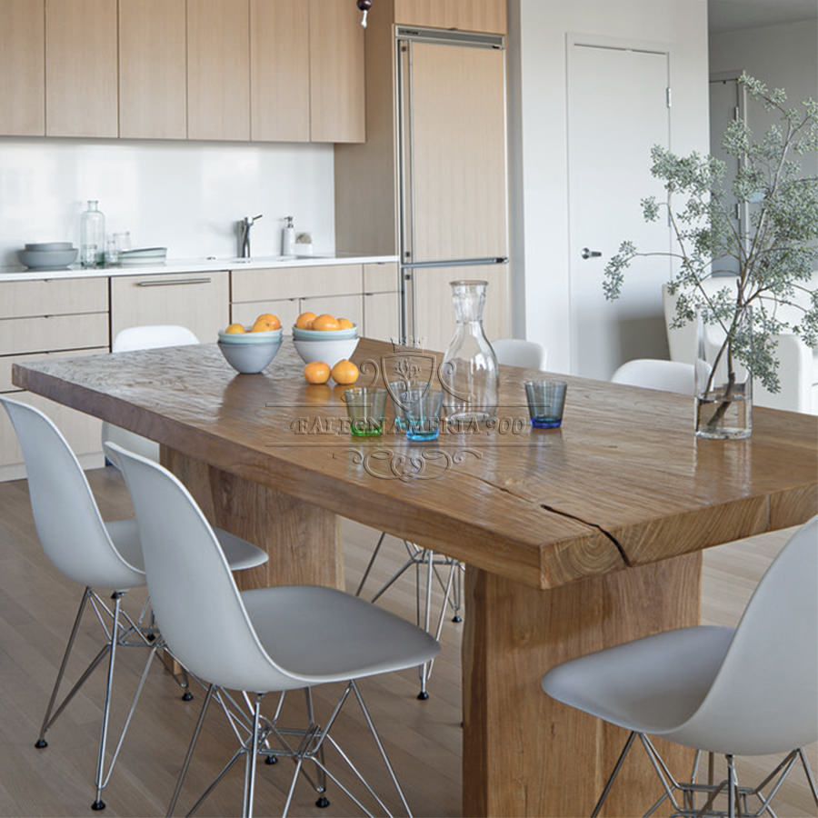 Tavolo in legno massello modello barone - Tavoli da cucina in legno massello ...