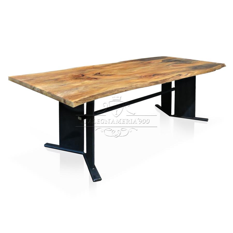 Tavolo in legno massello modello butterfly - Tavoli in legno e ferro ...
