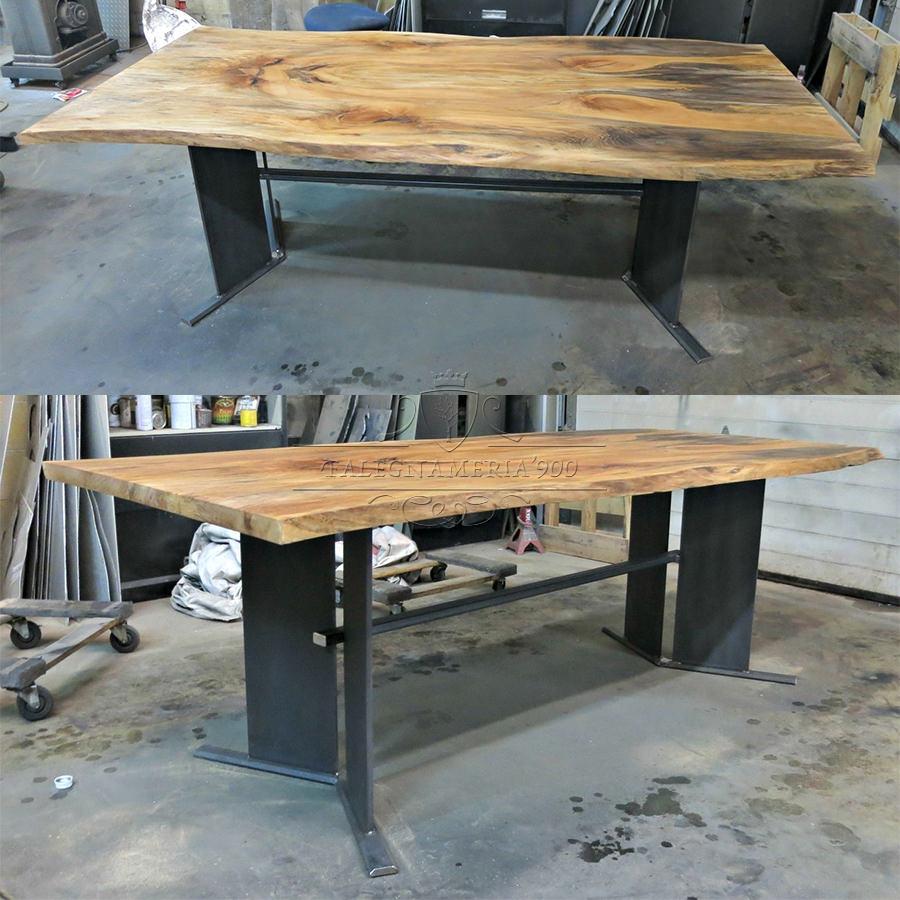 Tavolo in legno massello modello butterfly for Tavolo eclipse legno di ozzio design