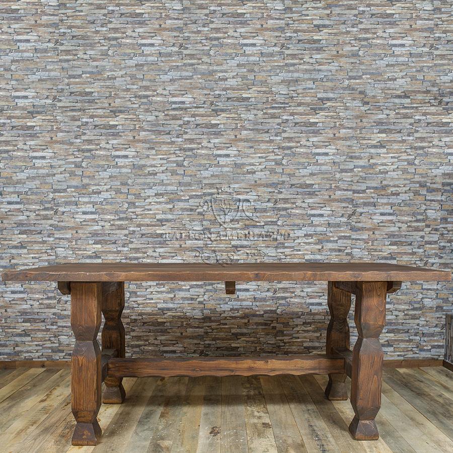 Tavolo in legno massello modello classico for Tavolo classico