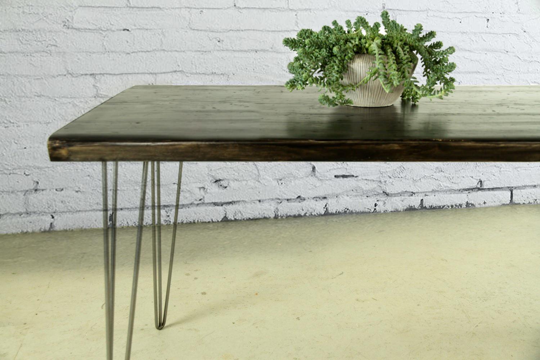 Tavolo in legno massello : Black Style. Tavolo da cucina in legno ...