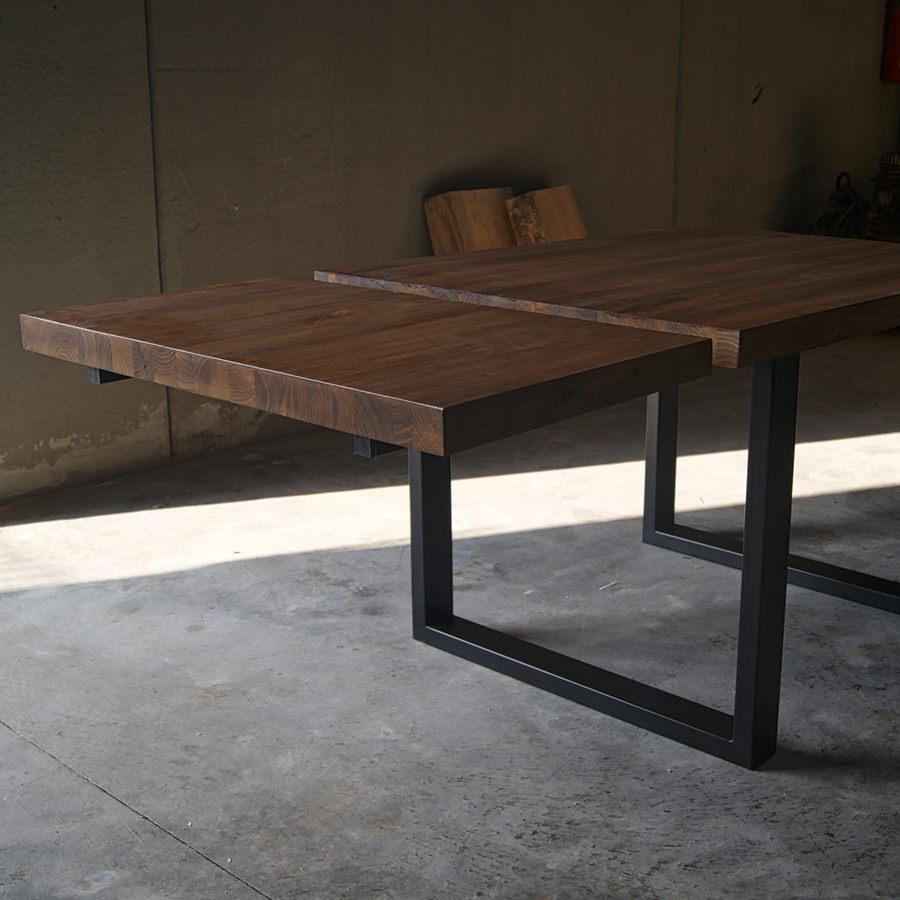 Tavolo in legno massello a liste incollate con prolunga max for Prolunga tavolo