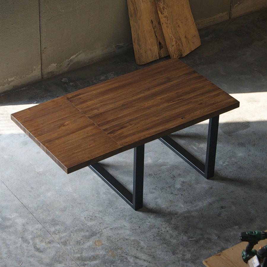 Tavolo in legno massello a liste incollate con prolunga max - Tavolo legno massello ...