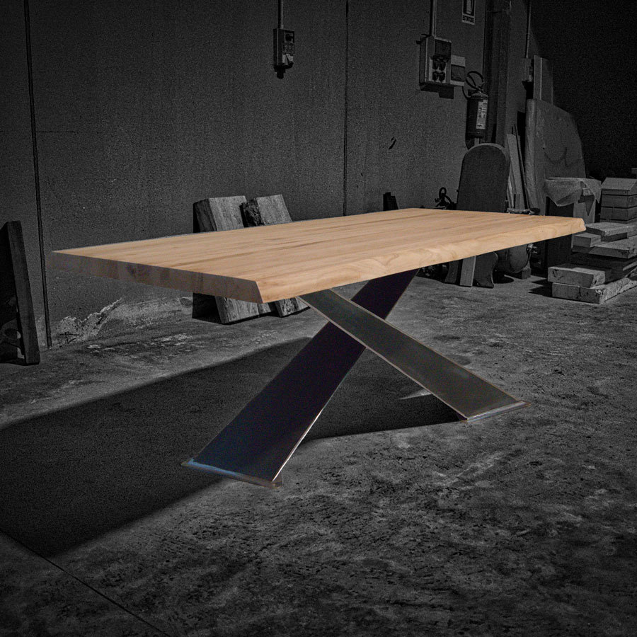 Tavolo in legno massello x design naturale - Tavolo legno massello ...