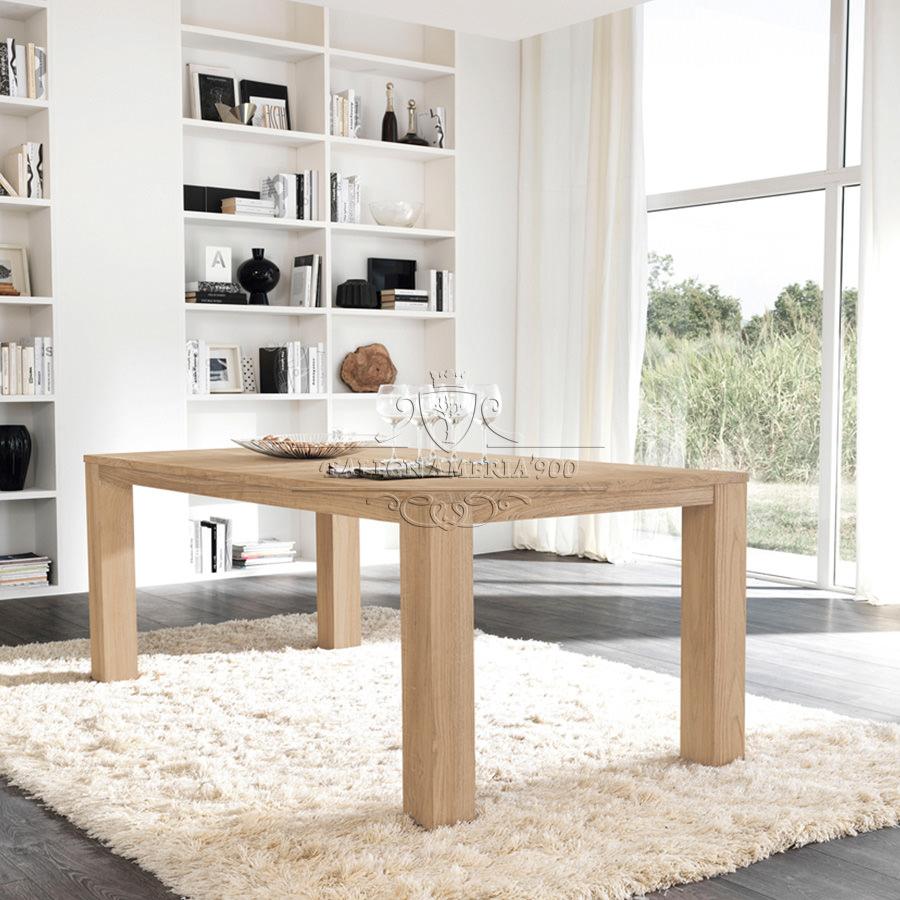 Tavoli in legno massello artigianale acquisto diretto in for Tavolo da cucina legno