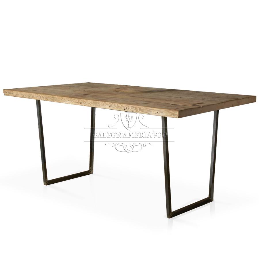 Tavoli con gambe in ferro tavolo special tavolo in - Gambe in ferro per tavoli ...