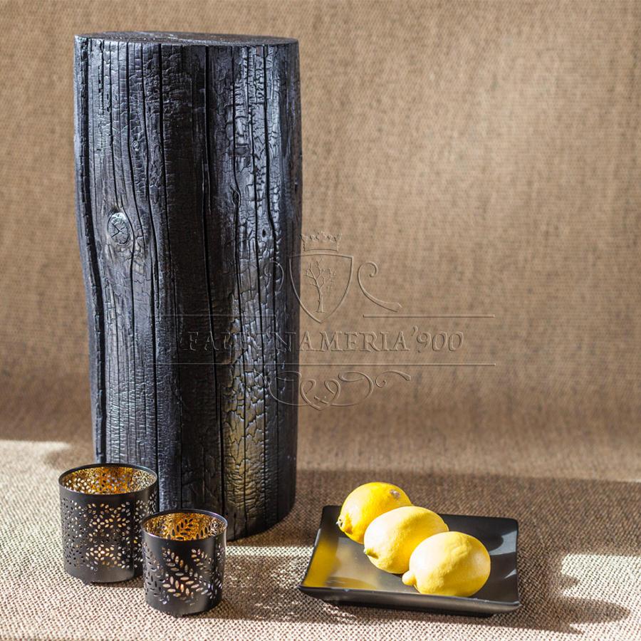 Tronco di castagno per arredamento nero modello liquirizia for Tronchi di legno per arredamento