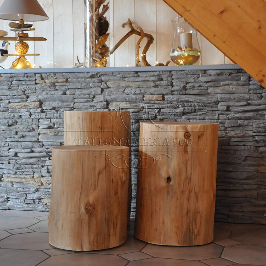 Tronco in legno massello per arredamento modello mercurio for Mobili on line