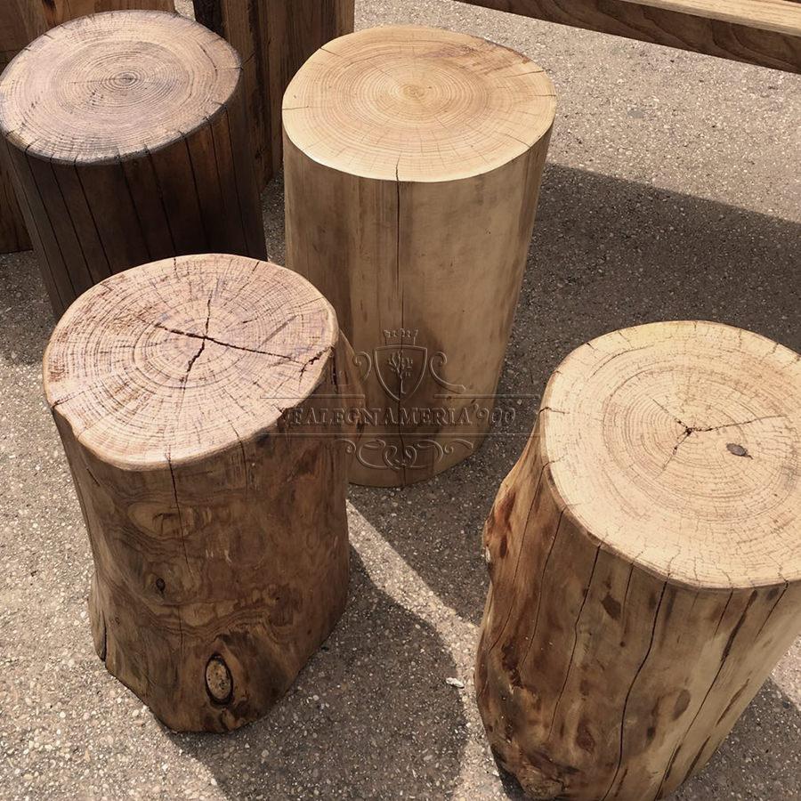 Tronco per arredamento in legno massello modello efeste for Tronchi di legno per arredamento