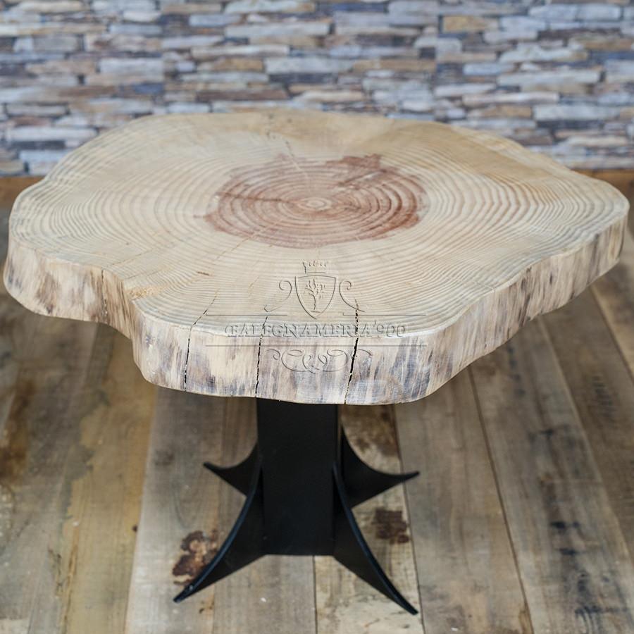 Tavolini Da Salotto Legno Massello.Tavolino Da Salotto In Legno E Ferro Trend
