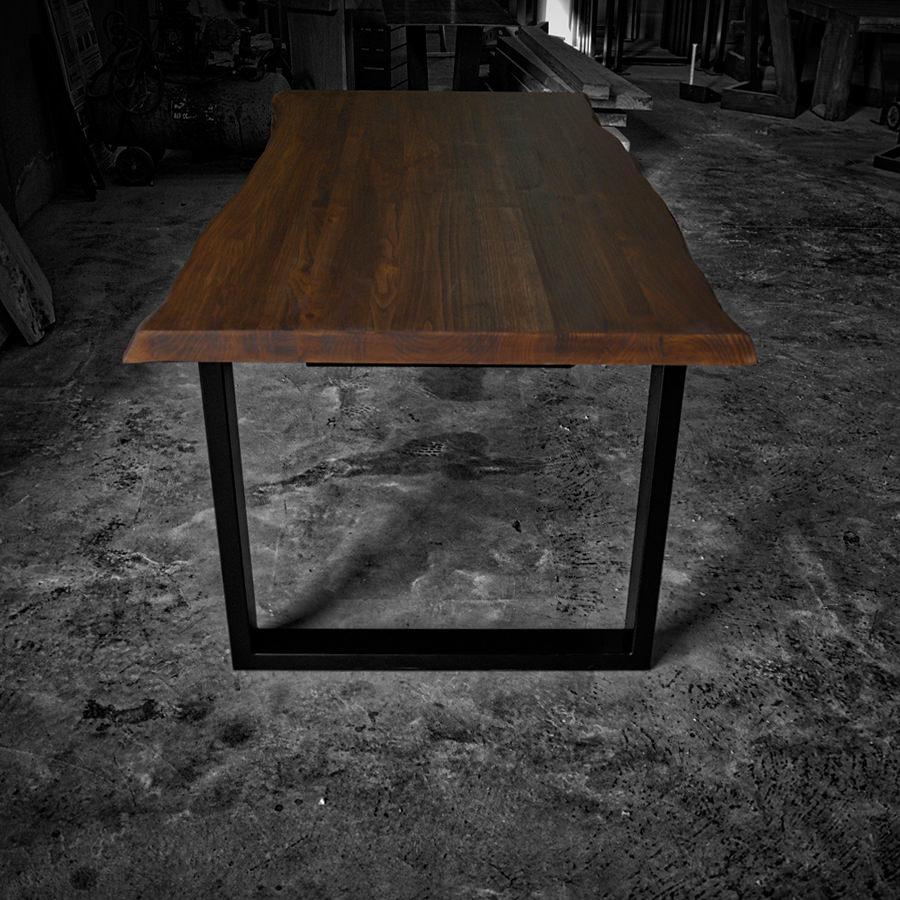 Tavolo legno massello rustico - Gambe in ferro - Impero ...