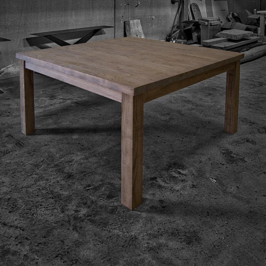 Tavolo quadrato in legno massello loren acquisto diretto falegnameria - Tavolo da cucina in legno ...