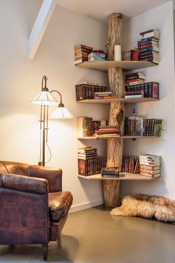 Libreria vero tronco legno massello - Tree | Falegnameria900