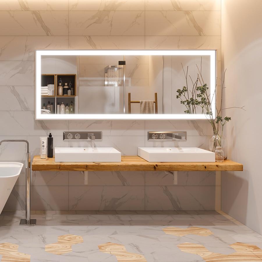 Mensola piano lavabo in legno massello