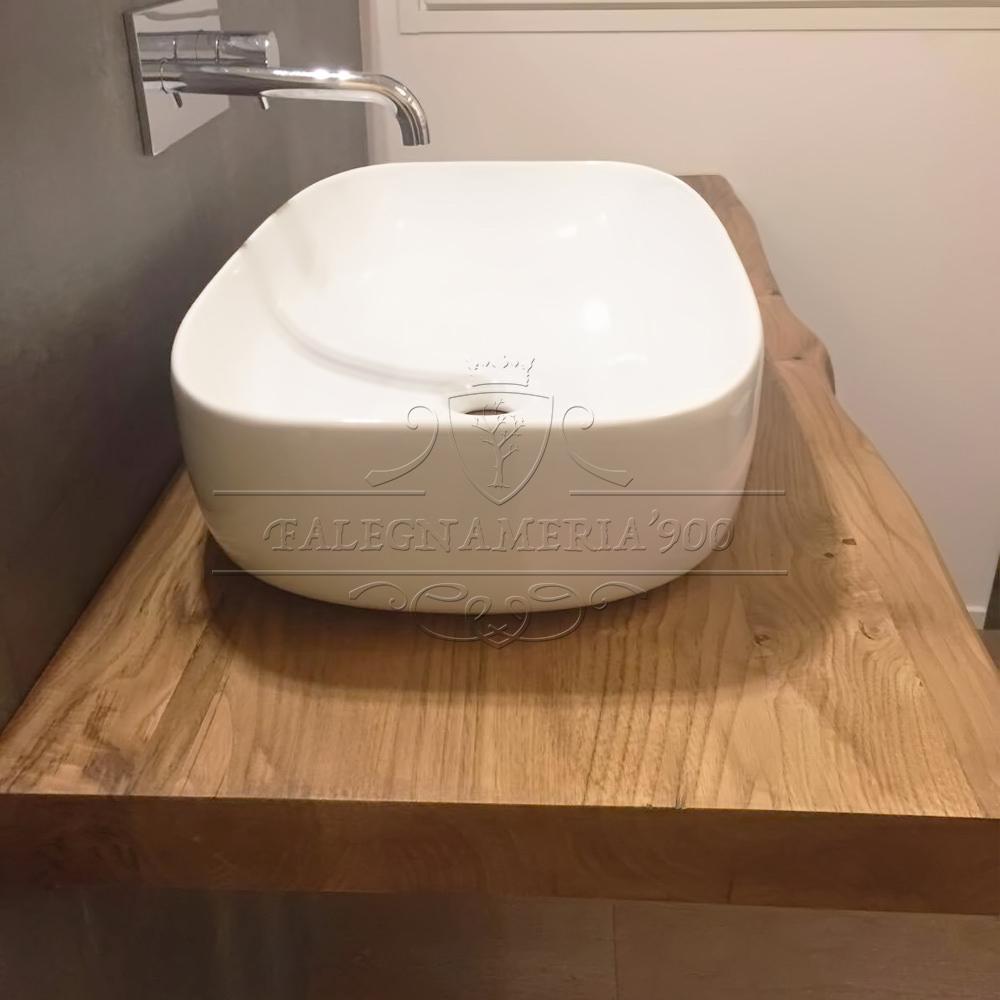 Mensola mobile bagno in legno massello naturale giorgia - Piano in legno per bagno ...