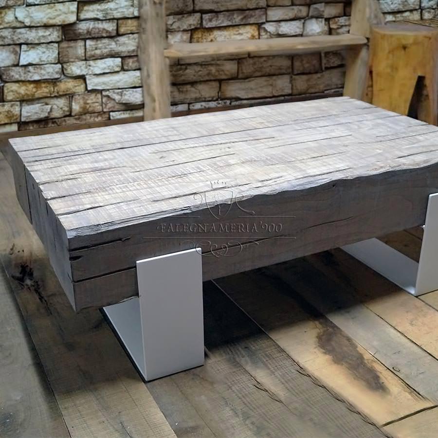 Tavolini Da Salotto Vintage.Tavolino Da Salotto Rustico Con Travi Word Falegnameria900