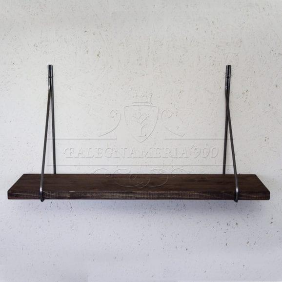 Mensola di puro design in legno massello di castagno
