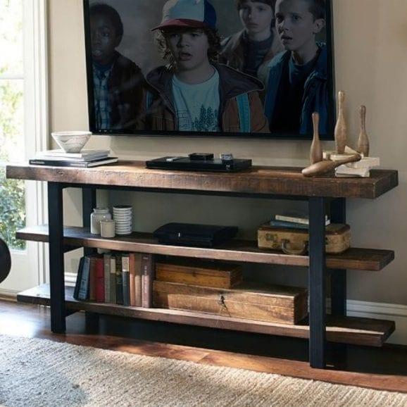 Mobile porta TV in legno massello rustico