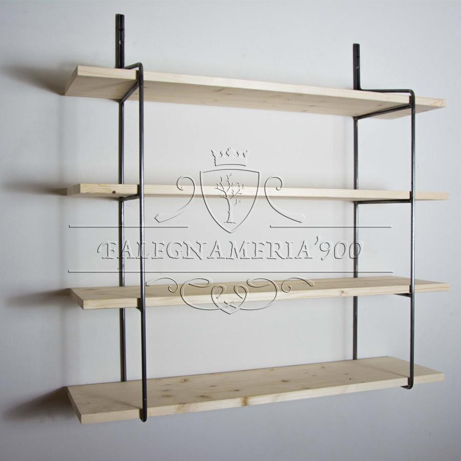 Mensole libreria da parete in legno massello | Falegnameria900