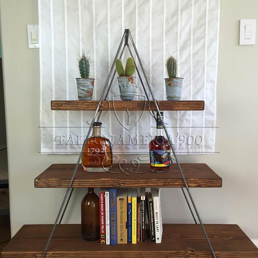 Mensole libreria piramide in legno massello | Falegnameria900